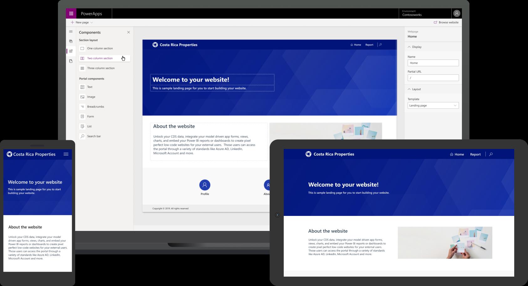 Learn & create a portal in Power Apps