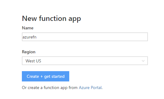 new-azure-function