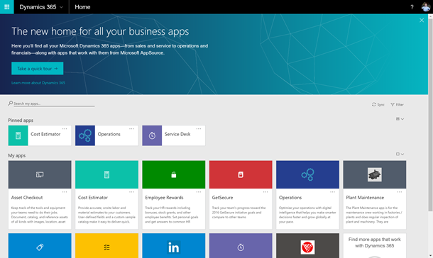 The new home for all your business apps