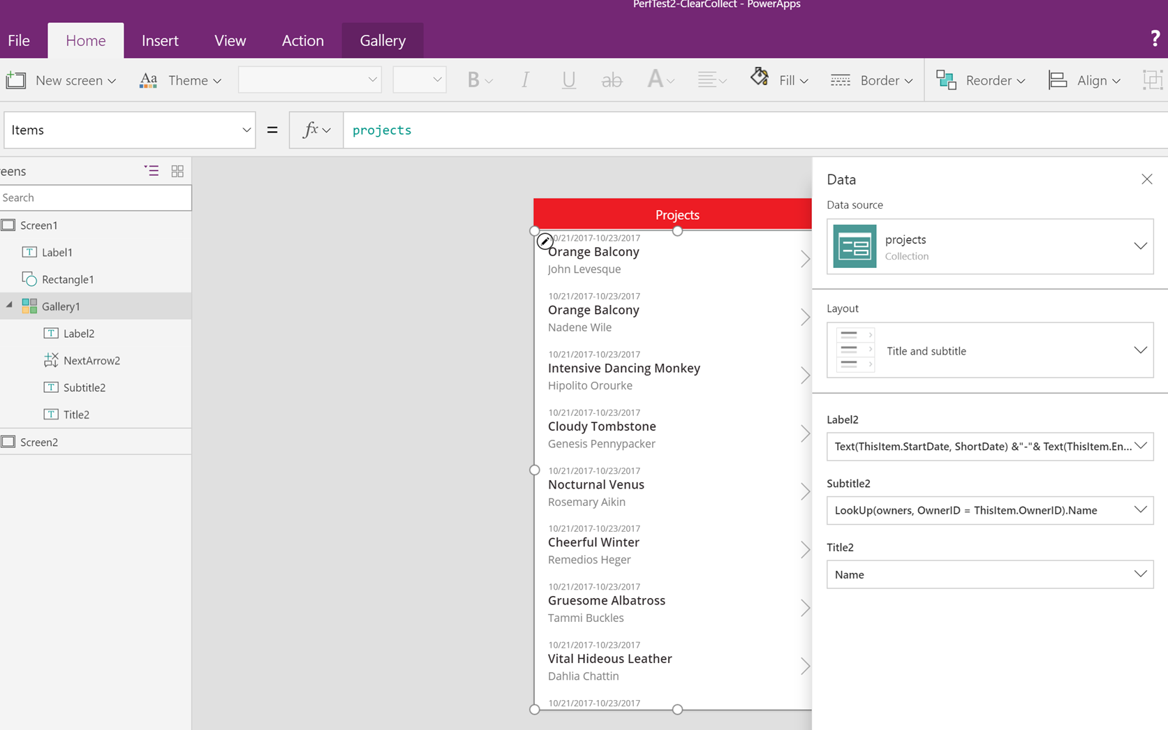 Performance considerations with PowerApps