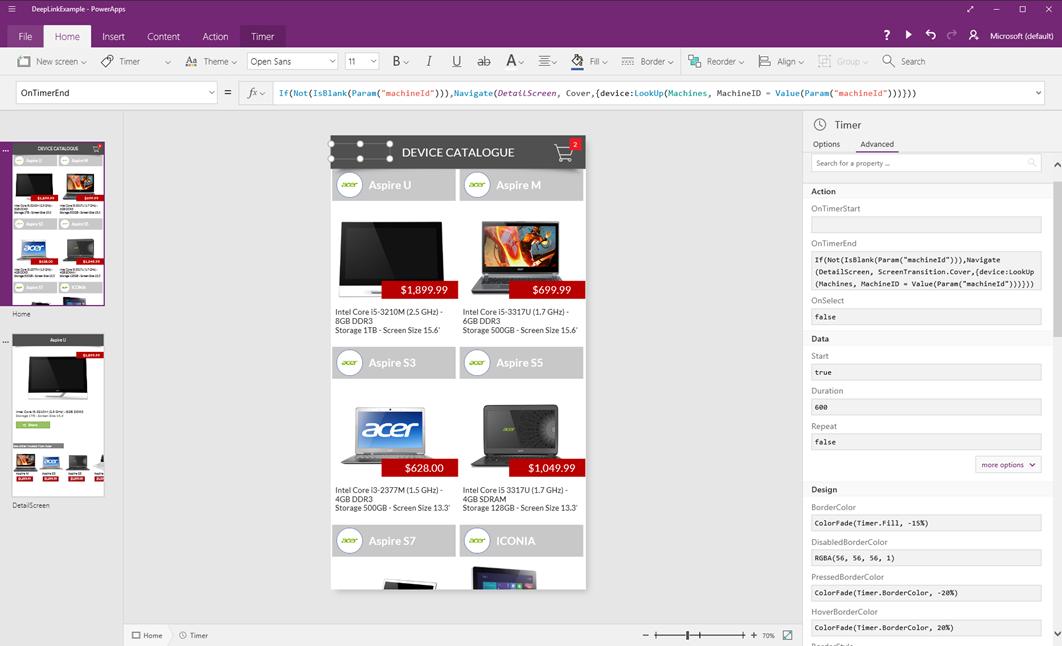 Deep Linking in PowerApps