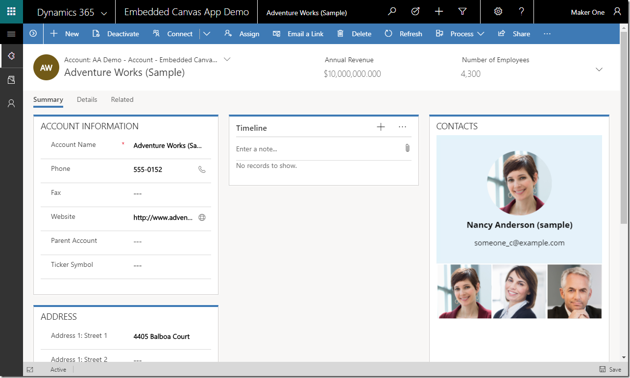 Enrich your model-driven forms with embedded canvas apps
