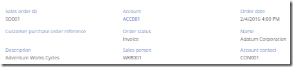 Enabling navigation for the Account field when displaying the details of a Sales Order using the Display form control