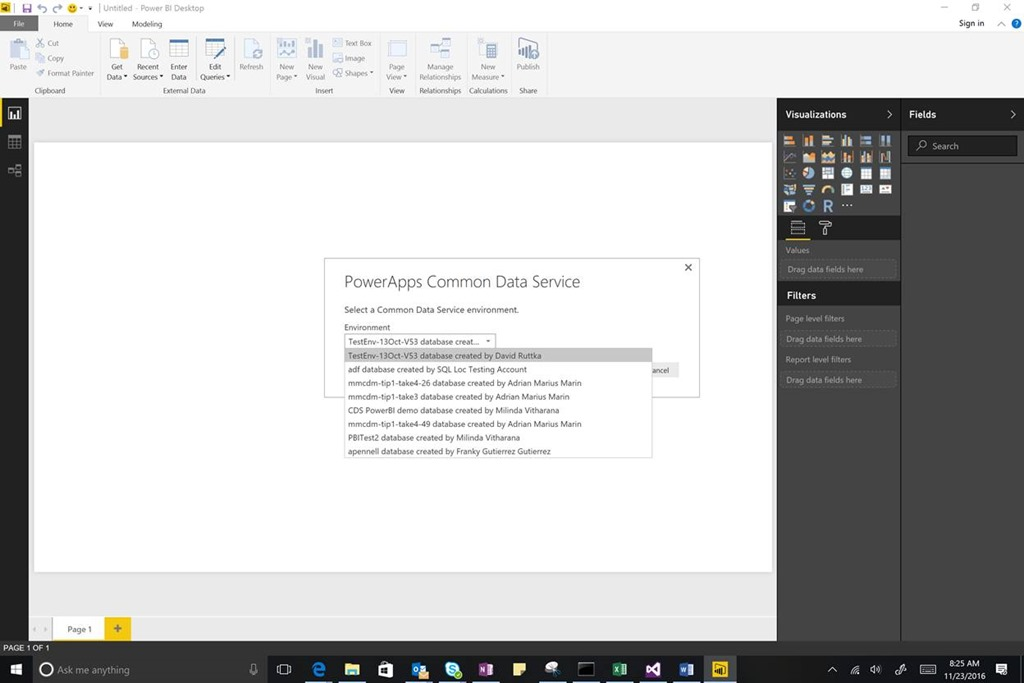 Create Power BI reports and dashboards with PowerApps Common Data ...